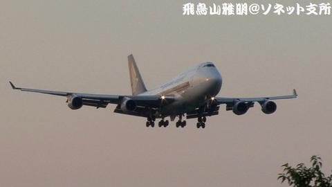 シンガポール航空 9V-SPJ@成田国際空港。さくらの山公園より。
