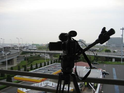 HDR-FX7@第1駐車場 タキシングの場面はこの位置から撮影
