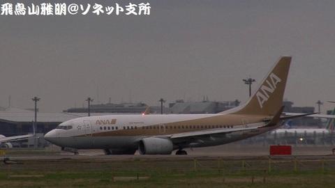 全日本空輸 JA02AN@成田国際空港。RWY34Lエンドより。