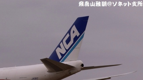 JA13KZの尾翼。