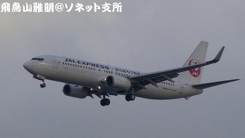 日本航空 - JALエクスプレス JA302J@東京国際空港。浮島町公園より。