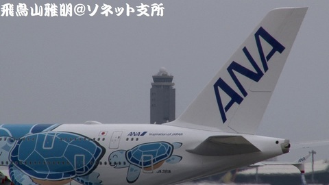 JA381A 機体後方(尾翼)のアップ