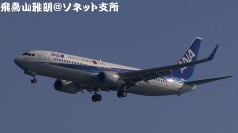 全日本空輸 - エアーニッポン JA55AN@東京国際空港。浮島町公園より。