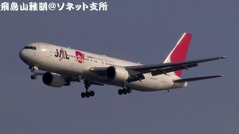 日本航空 JA623J@東京国際空港(浮島町公園より)。RWY34Lへのファイナルアプローチ。