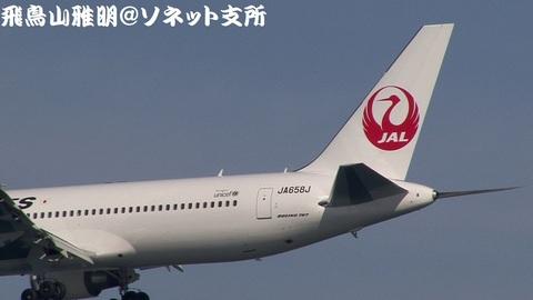 JA658J・機体後方のアップ。