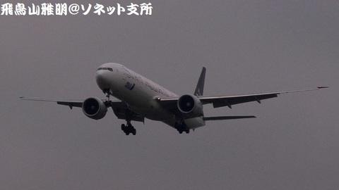 全日本空輸 JA731A@成田国際空港(RWY34Lエンドより)。RWY34Lへのファイナルアプローチ。