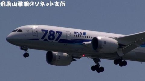 JA808A・機体前方のアップ。