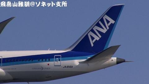 JA816A・機体後方(尾翼)のアップ。