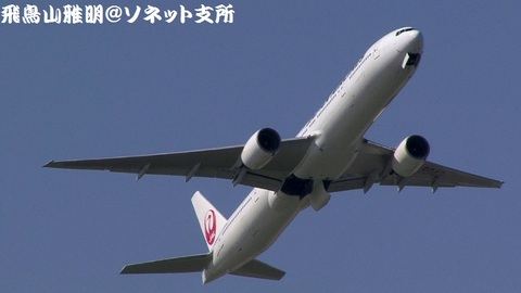 日本航空 JA8942@東京国際空港(浮島町公園より)。RWY16R上がりの迎え撃ち。