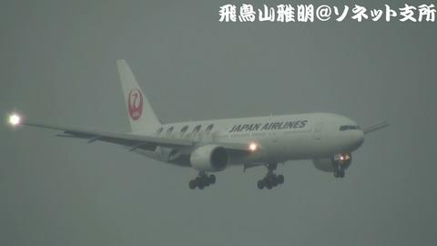 日本航空 JA8982「JAL嵐JET2」@東京国際空港。京浜島つばさ公園より。