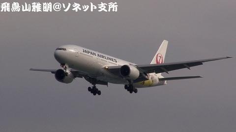 日本航空 JA8985@東京国際空港。浮島町公園より。